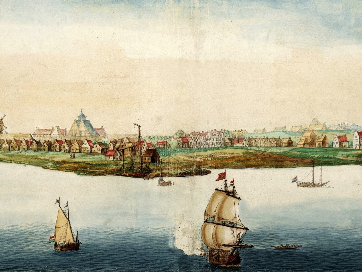 Nieuw Amsterdam, 1664. Source: Johannes Vingboons [Public domain], via Wikimedia Commons
