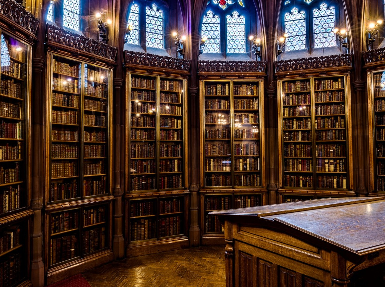 John Rylands Library Reading Room. Source: Flickr, Public Domain