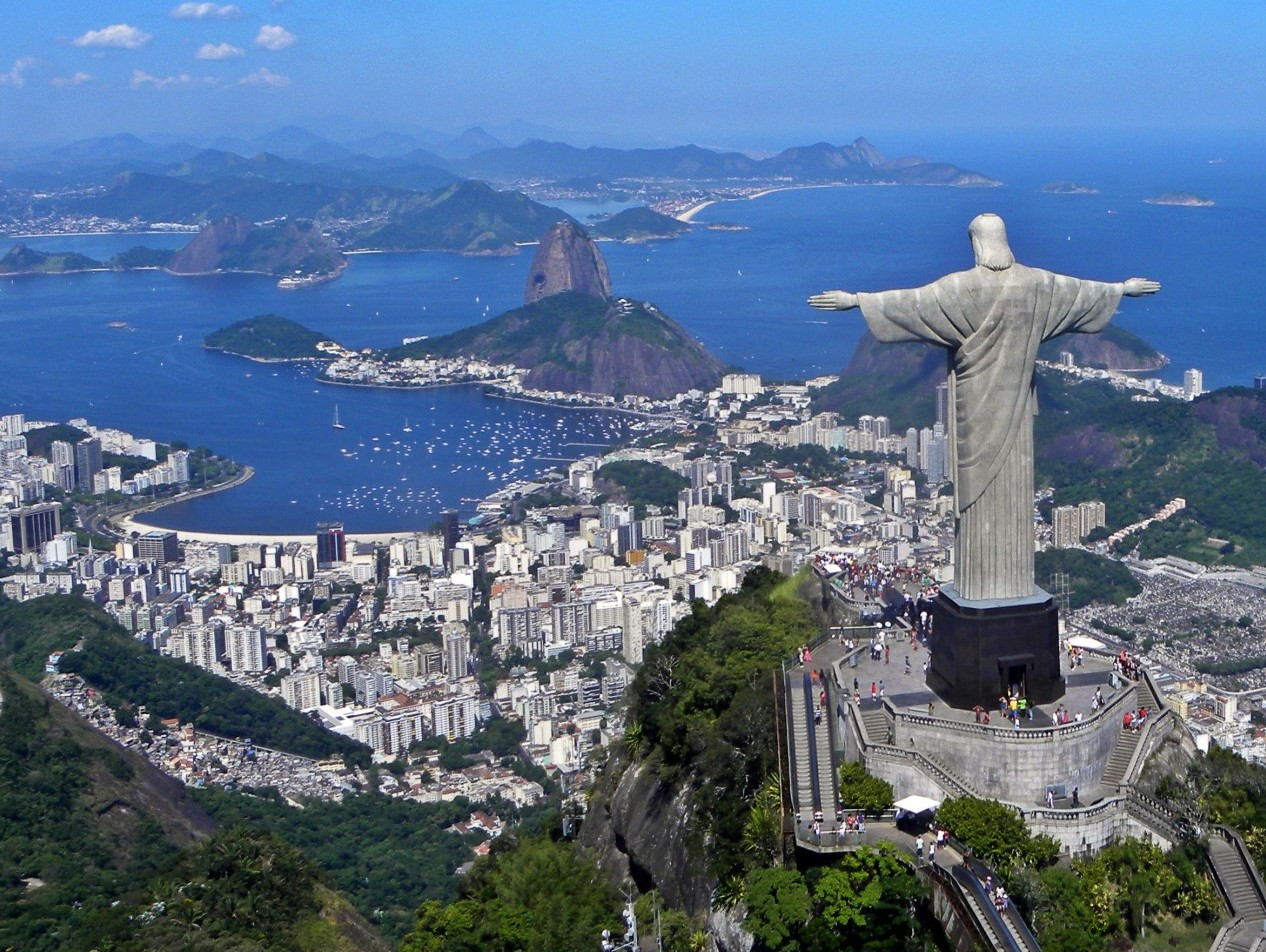 """Christ the Redeemer"" atop the Corcovado mountain overlooking the city of Rio de Janeiro, Brazil. Source: Artyominc on Wikimedia Commons, CC BY-SA 3.0."