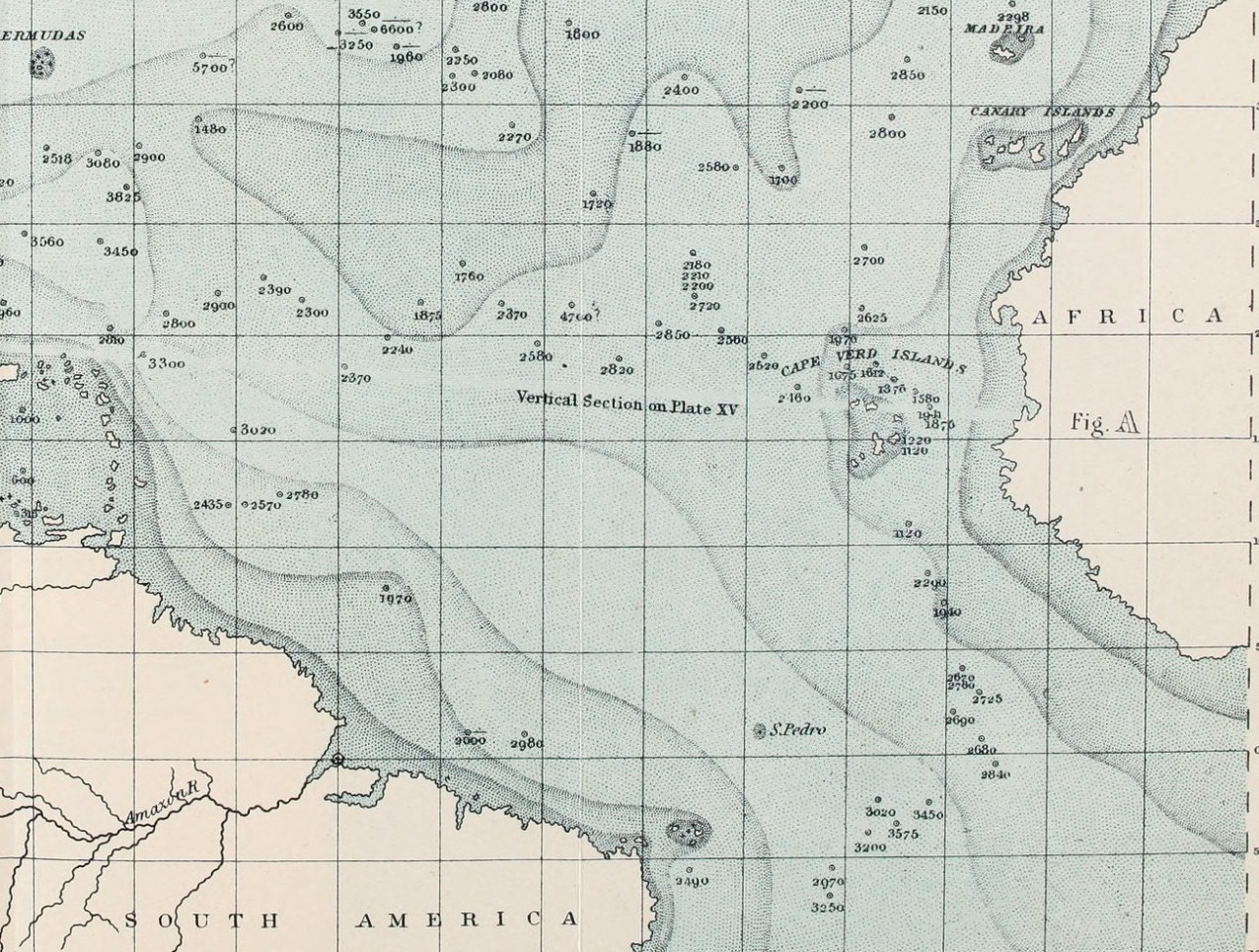 Map of Atlantic Depths, 1912. Source: Flickr, No known copyright restrictions