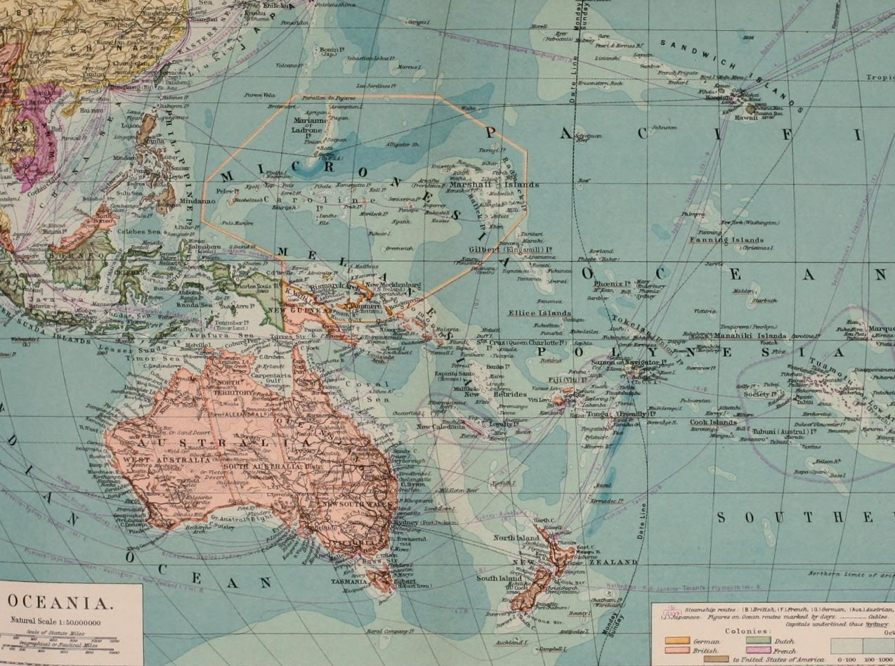 Map of Pacific, 1902. Source: Flickr, No known copyright restrictions